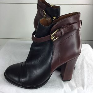 Ivanka Trump Two Tone Bootie 5.5M Leather Upper